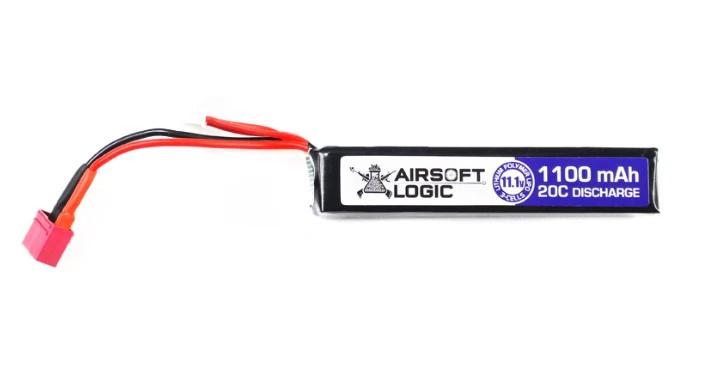 Airsoft Logic 11.1V Lipo Battery 1100mAh DEAN Stick