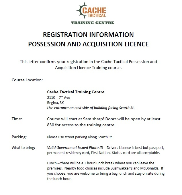 Canadian Firearms Safety Course - VARIOUS DATES
