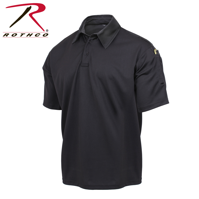 Rothco Tactical Performance Polo Shirt Black