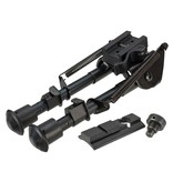 AIM Sports All-Platform Real Steel Retractable Harris Type Bipod (RIS + Stud Sniper Mount)