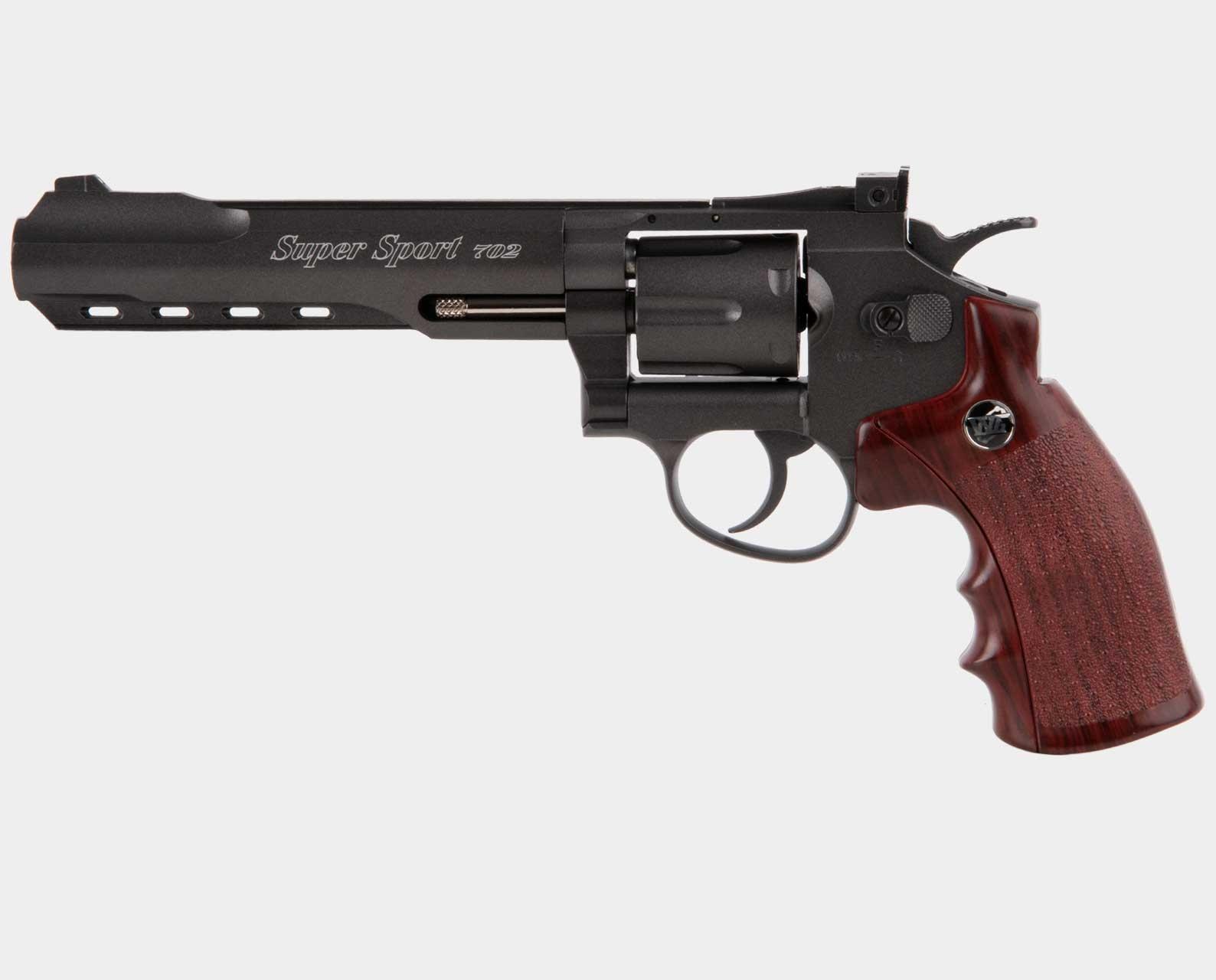 "Wingun Super Sport Revolver 6"" Black"
