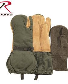 US GI Leather Trigger Finger Mittens