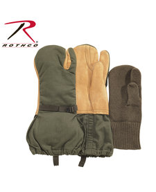 US GI Leather Trigger Finger Mittens