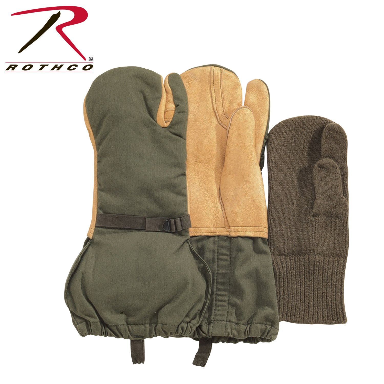Rothco US GI Leather Trigger Finger Mittens