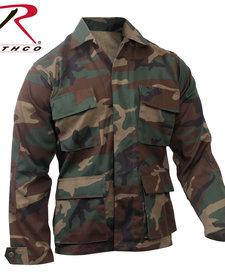 Camo BDU Shirt Woodland Camo