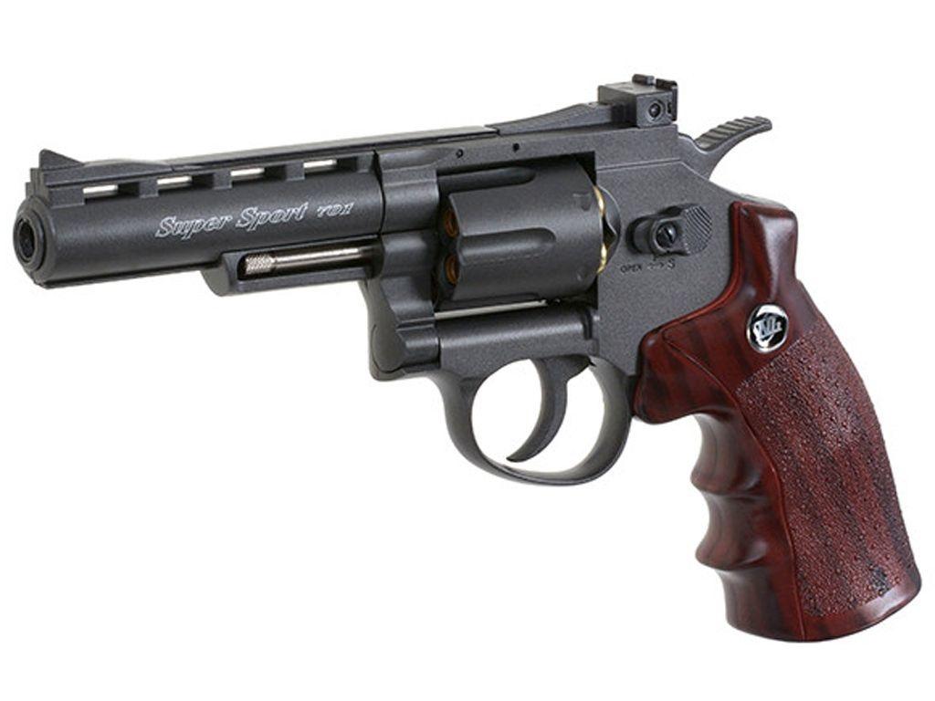 "Wingun Super Sport Revolver 4"" Black"