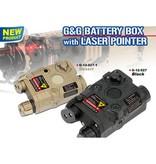 G&G PEQ Battery Box w/Laser-BLK