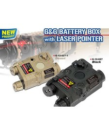G&G PEQ Battery Box w/Laser-BLK