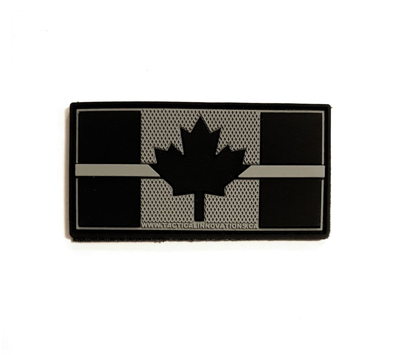 Tactical Innovations Canada PVC Patch - Canadian Thin Grey Line 1x2