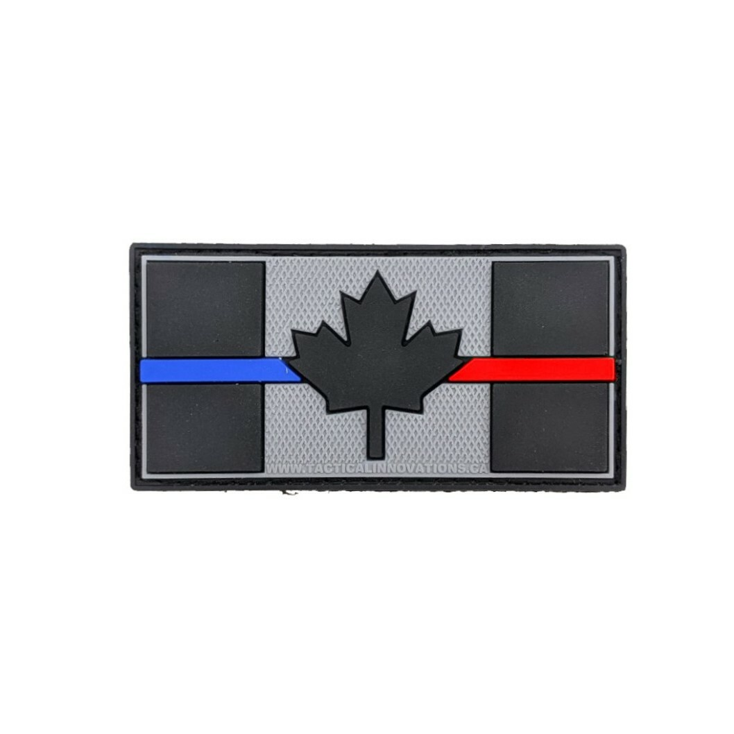 Tactical Innovations Canada PVC Patch - Canadian Thin Blue /Red Line 1.5X3