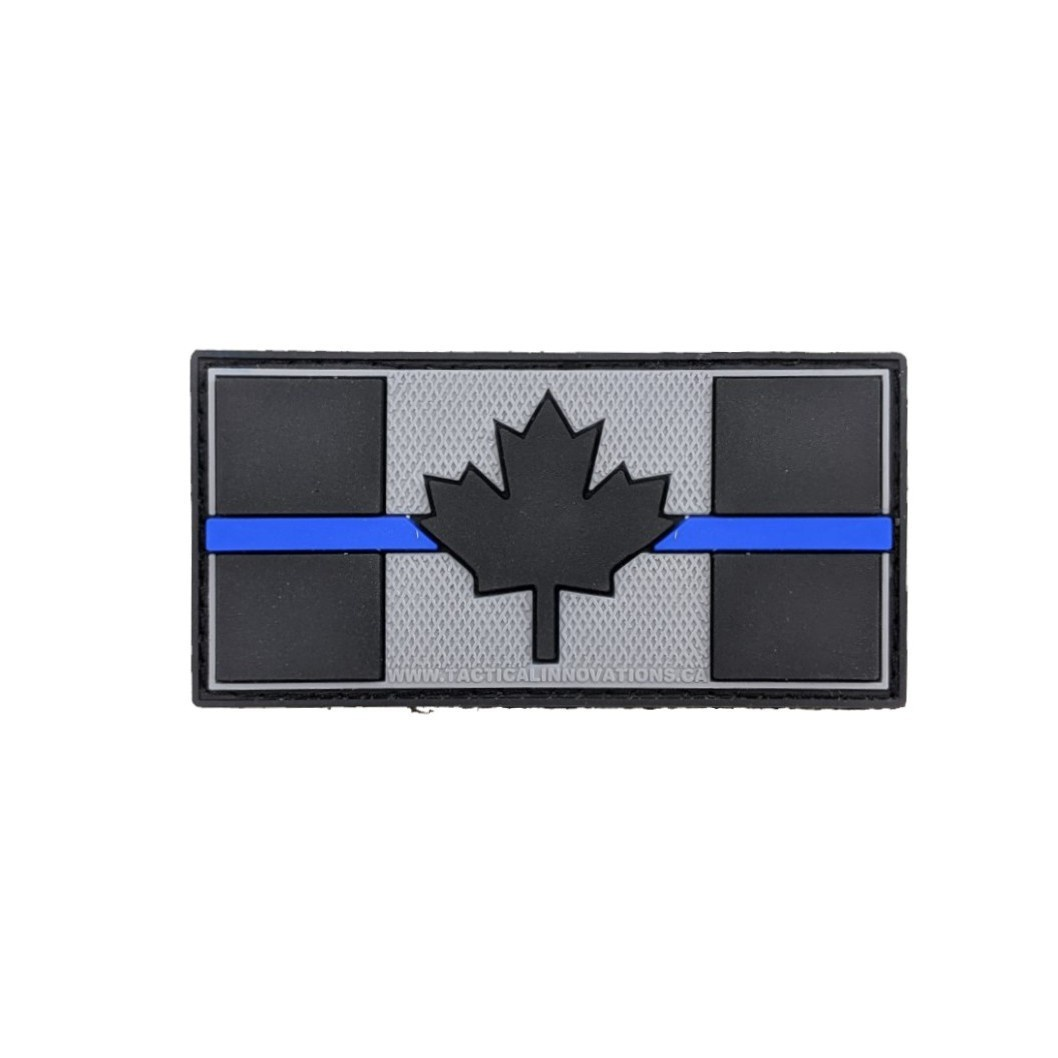 Tactical Innovations Canada PVC Patch - Canadian Thin Blue Line 1.5X3