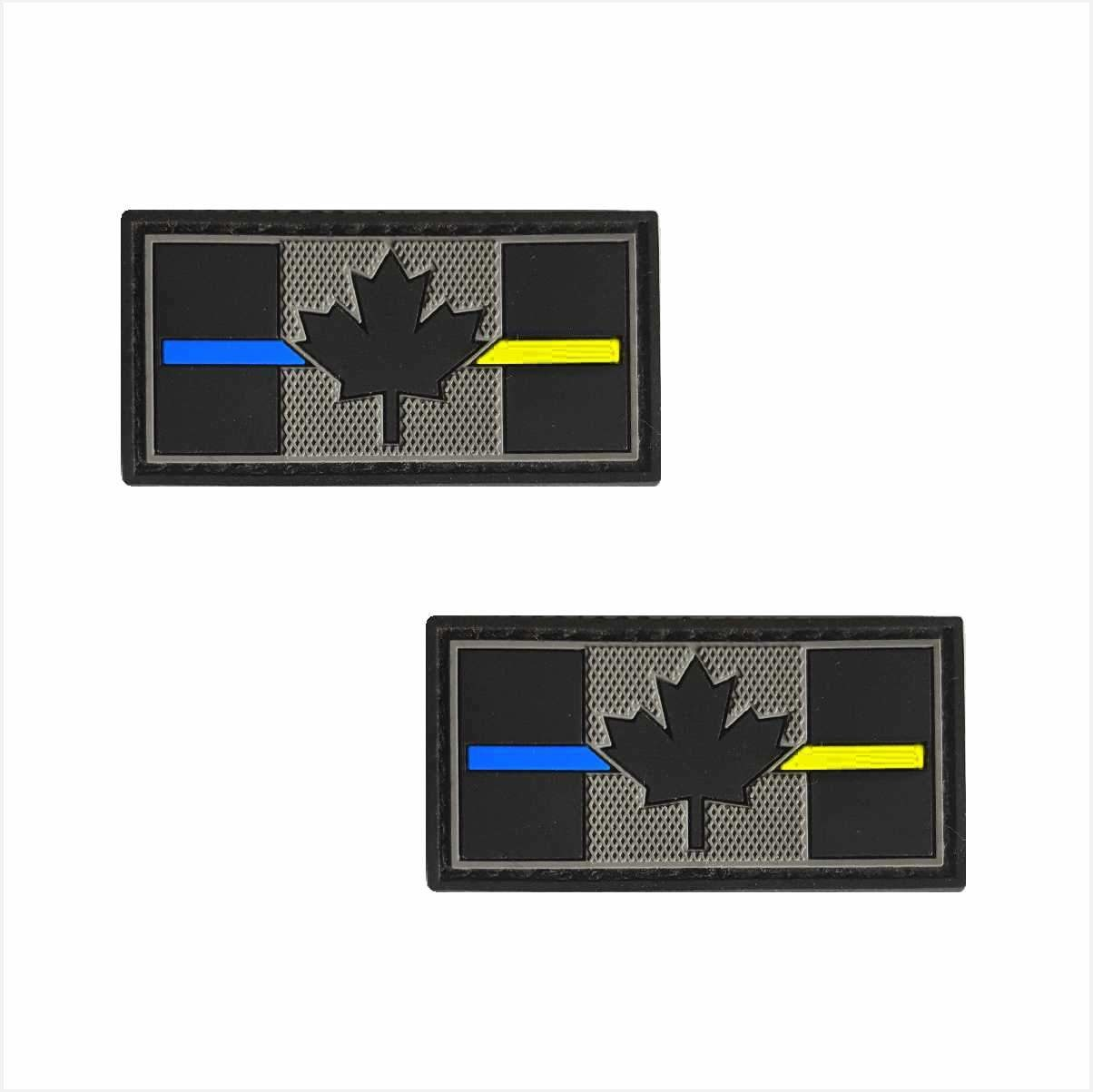 Tactical Innovations Canada PVC Patch - Canadian Thin Blue/Yellow Line 1x2