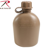 Rothco 3 Piece 1 Quart Plastic Canteen Coyote Brown