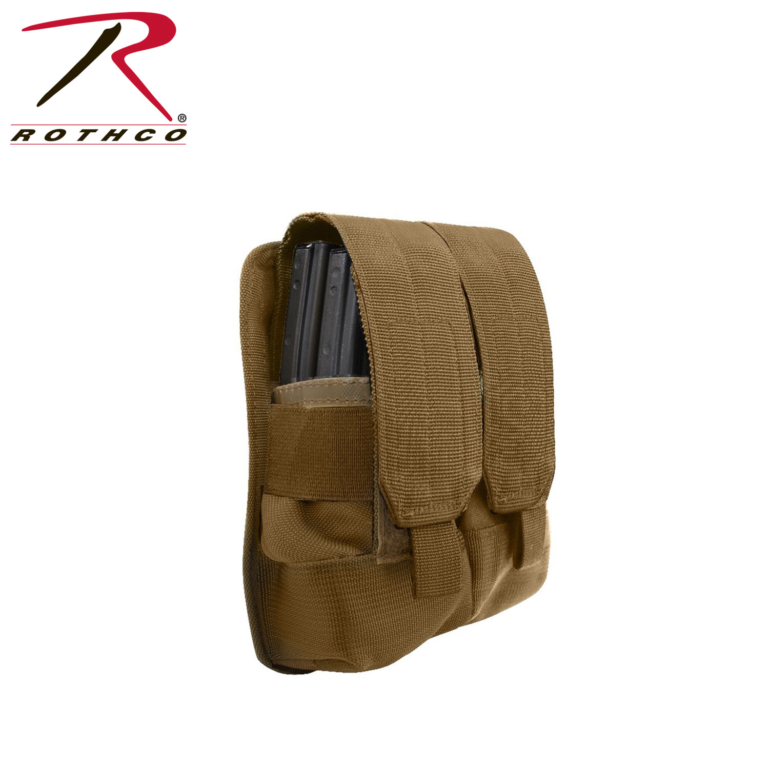 Rothco Universal Double Mag Rifle Pouch - Coyote Brown