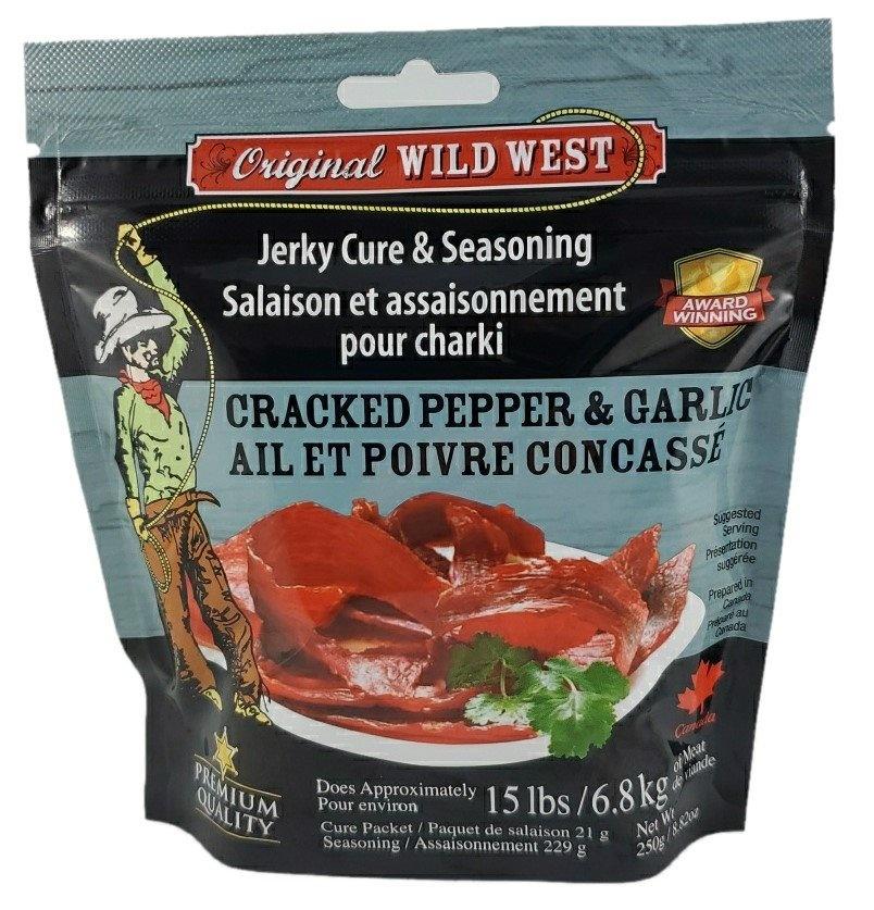 Wild West Seasonings Cracked Pepper & Garlic Jerky Seasoning 250g