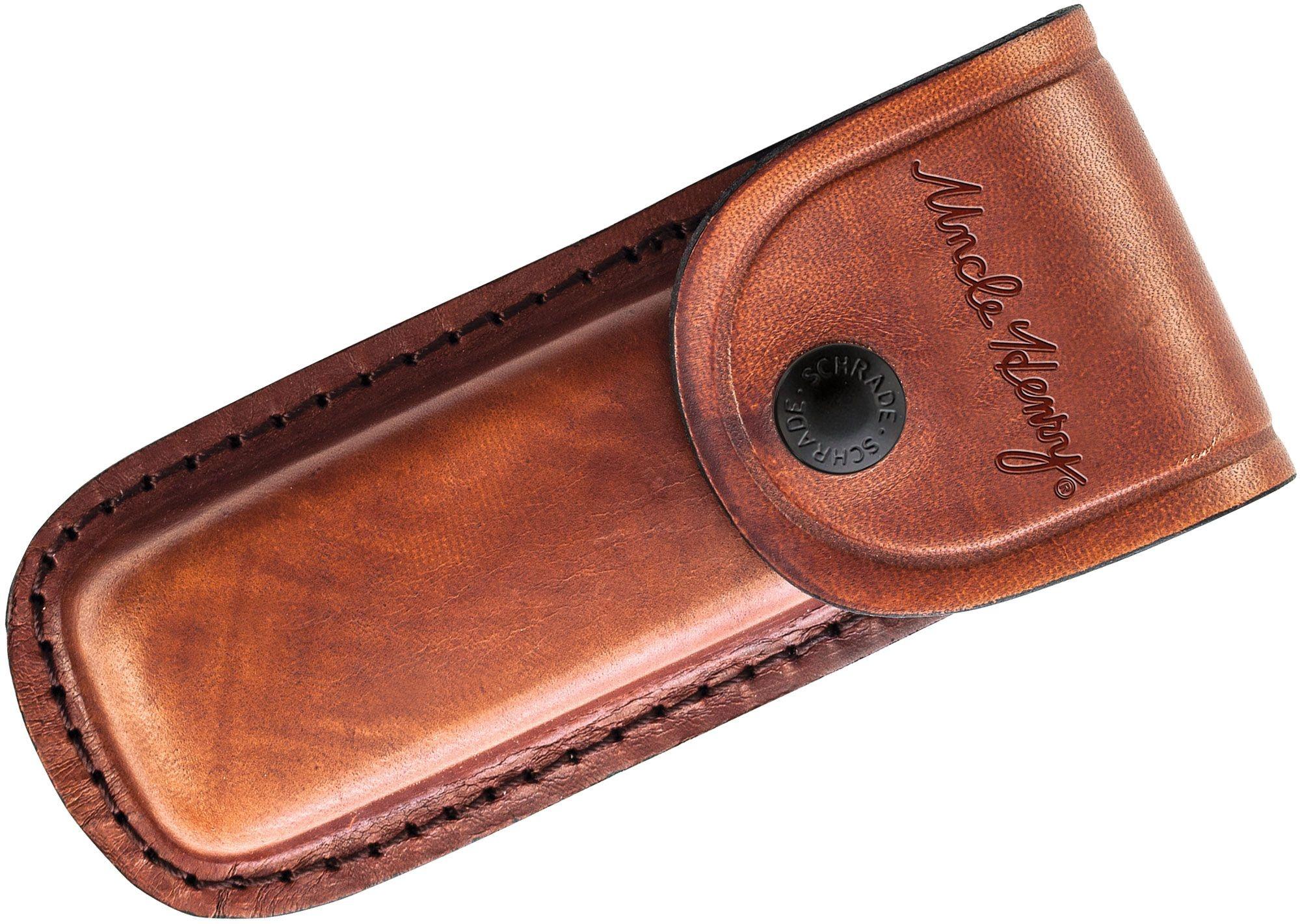 "Uncle Henry Bear Paw 5"" Lockback with Leather Sheath"