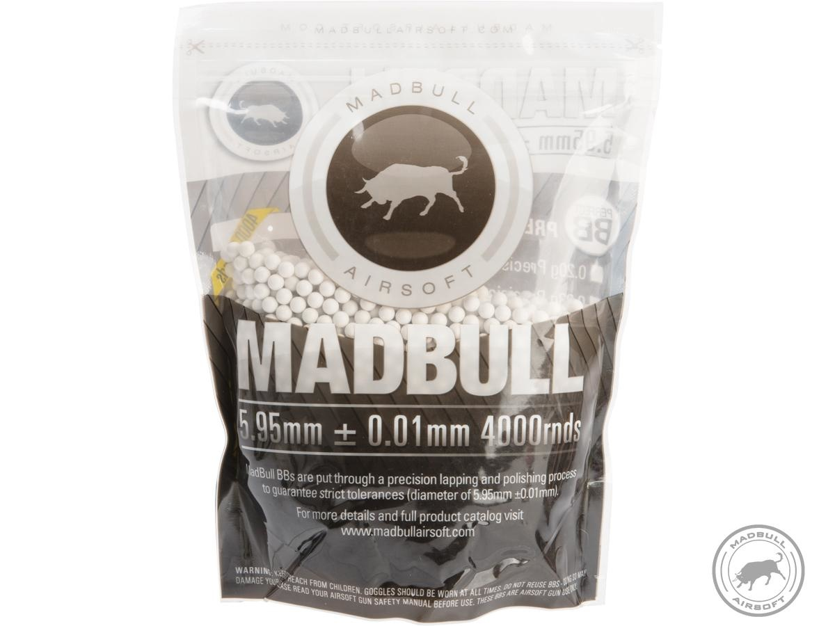 Madbull Premium Match Grade 6mm PLA Biodegradable Airsoft BB (.30g White / 4000rd Bag)