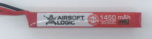Airsoft Logic 11.1 LiPo Battery 1450maH Stick High Discharge - Dean Connector