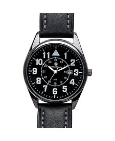 Civilian Watch with Leather Strap