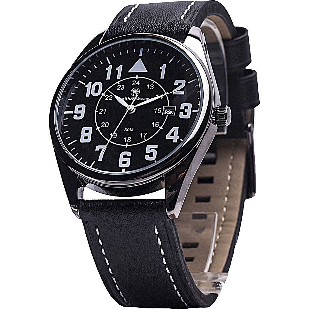 Smith&Wesson Civilian Watch with Leather Strap