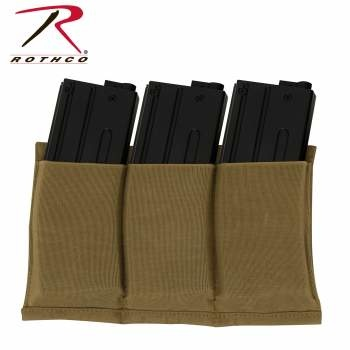 Rothco Lightweight 3Mag Elastic Retention Pouch