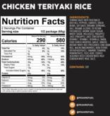 Peak Refuel  Chicken Teriyaki Rice Meal
