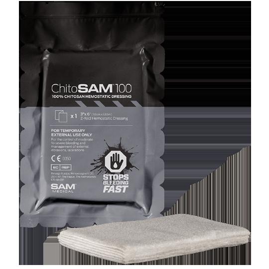 "SAM Medical ChitoSAM 100 (3"" x 6' Z-fold Grey)"