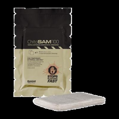 "SAM Medical ChitoSAM 100 (3"" x 4' Z-fold Tan)"