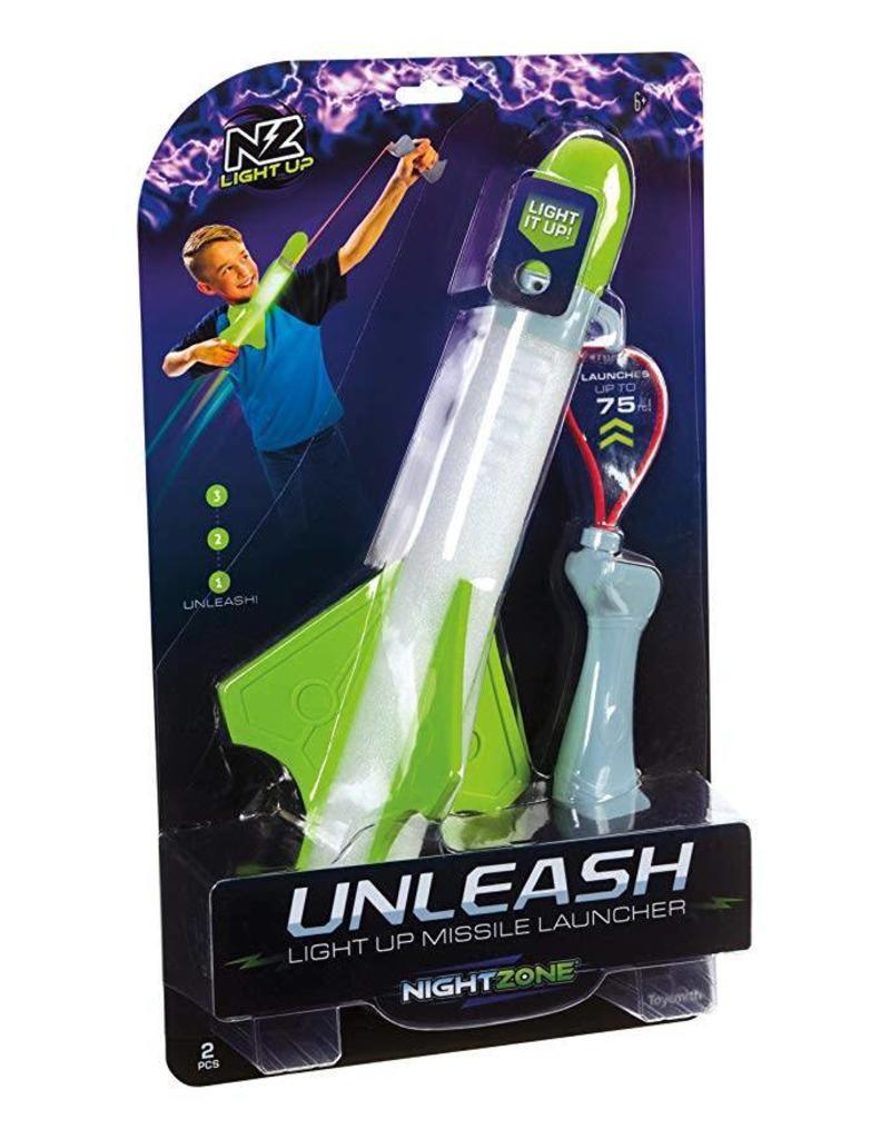 Toysmith Nightzone Unleash Light Up Missile Launcher