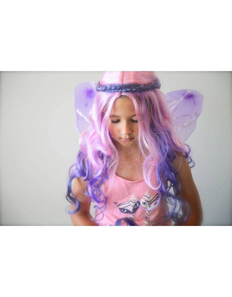 Pink Poppy Fairies and Flowers Wig
