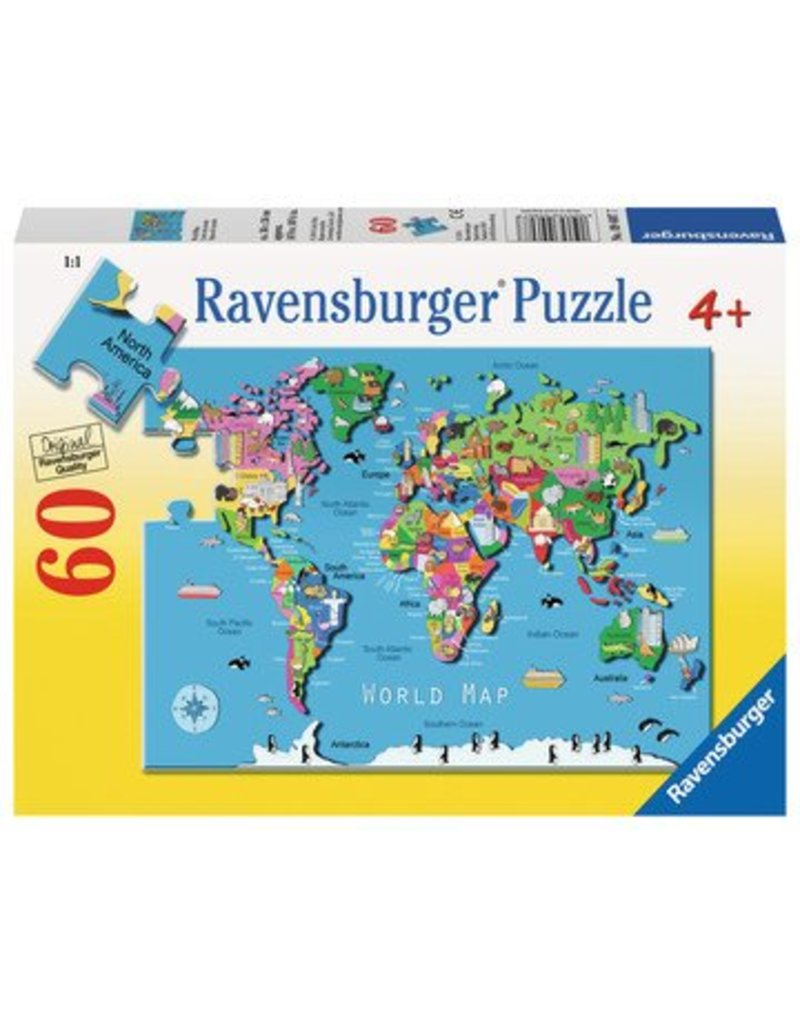 Ravensburger World Map 60 pc