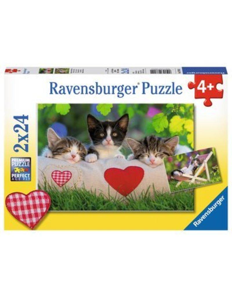 Ravensburger Sleepy Kitten 2x24 pzl