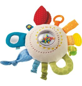 Haba USA Teether Cuddly Rainbow Round