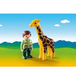 Playmobil 123 Zookeeper with Giraffe