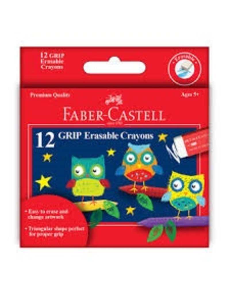 Faber-Castell Erasable Crayons 12 ct