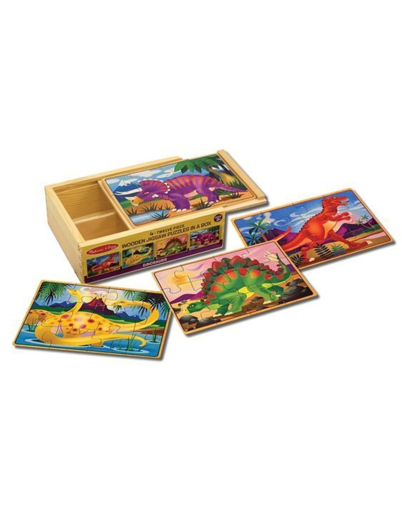 Melissa & Doug Dinosaurs Puzzles in a Box