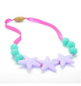 Chew Beads Broadway Glow Star Necklace Violet