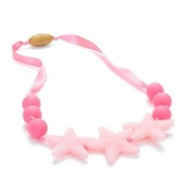 Chew Beads Broadway Glow Star Necklace Bubble Gum