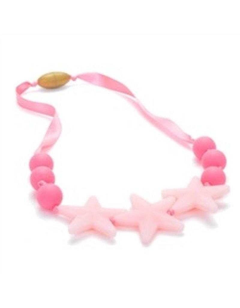 Chew Beads Broadway Glow Star Necklace Bubble Gum