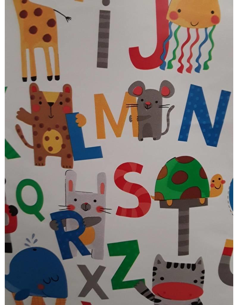 Free Gift Wrap using Alphabet Paper