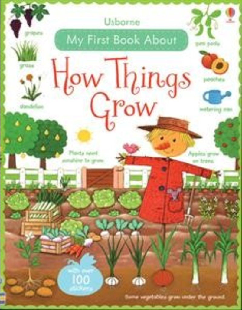Usborne How Things Grow Sticker Book