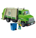 Green Recycling Truck