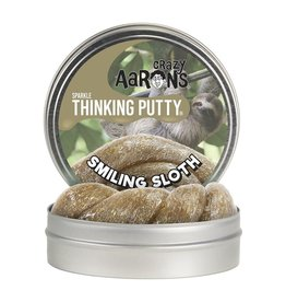 Crazy Aaron Smiling Sloth Sparkle Putty