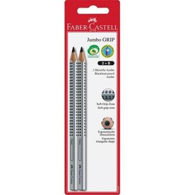 Faber-Castell 2ct Jumbo Grip Graphite No.2