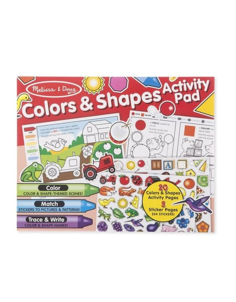 Melissa and Doug Colors & Shapes Activity Pad