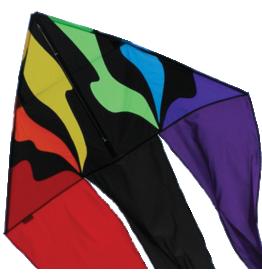 Premier Kites Rainbow Flo-Tail Delta Kite