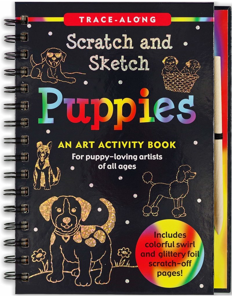 Peter Pauper Scratch and Sketch Puppies