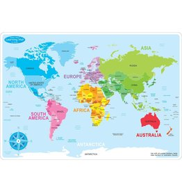 Ashley Productions World Map Basic Learning Mat