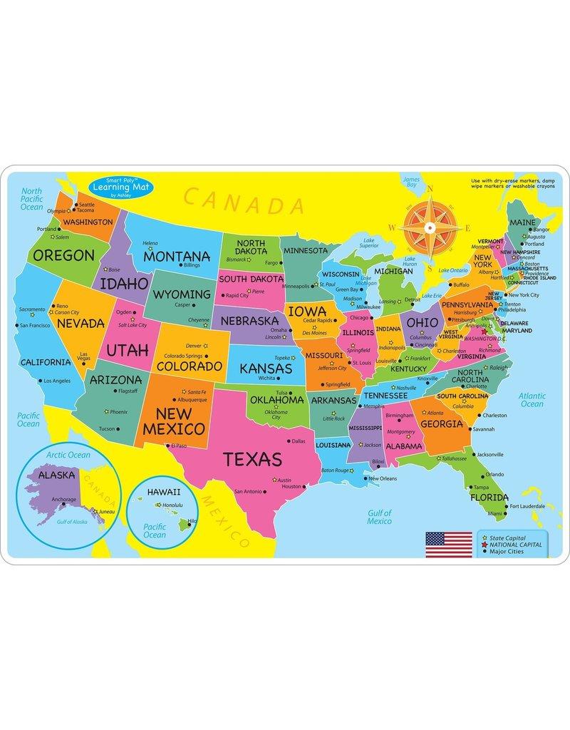 Ashley Productions US Map Basic Learning Mat