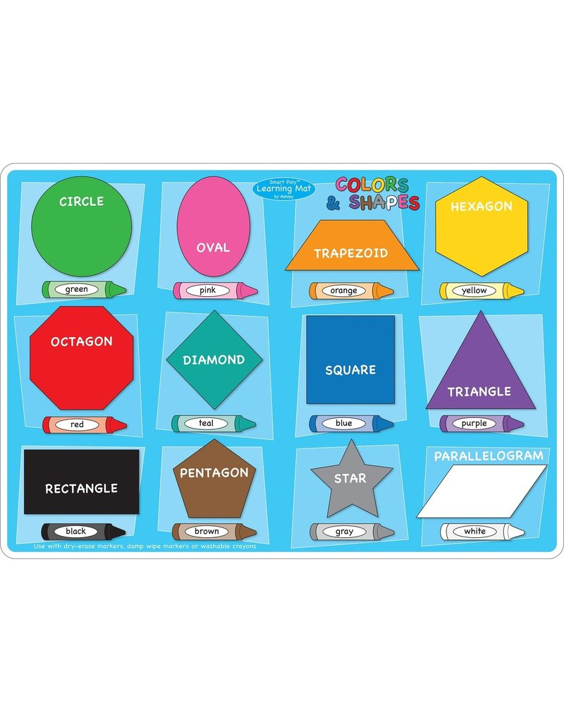Colors/Shapes Learning Mat